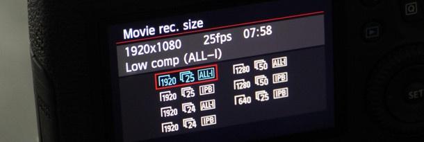 Canon EOS 6D filmstanden