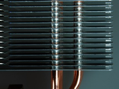 gebogen voorrand koelribben onderzijde koeler