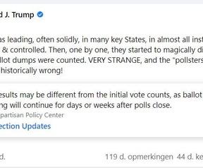 Labelen post Trump door Facebook en Twitter