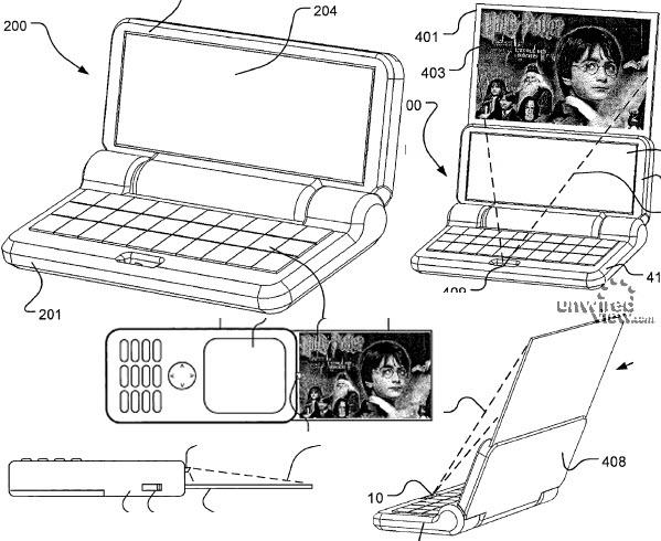 Uitschuifbaar projectiescherm Sony Ericsson