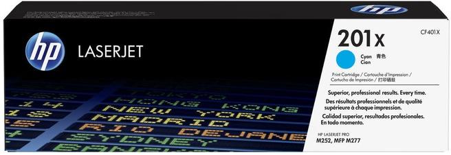HP 201X (CF401X) toner cyaan hoge capaciteit (origineel)