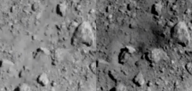 Jaxa asteroïde krater