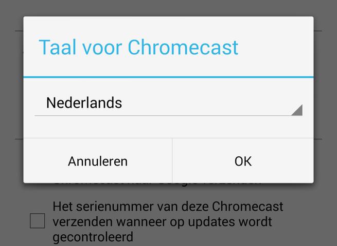 Chromecast-app in Nederlands