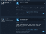 Reviewbombing AC Unity