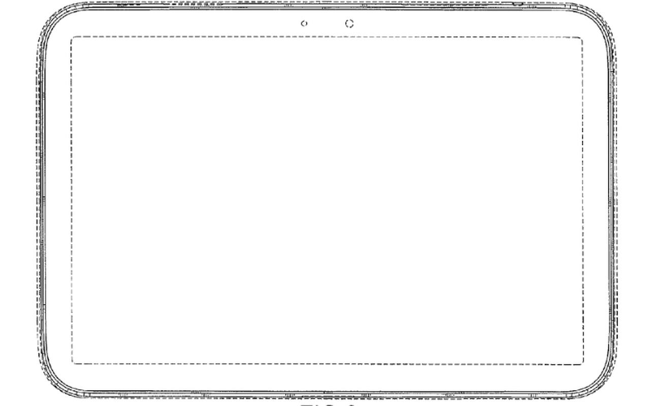 Samsung designpatent tablet front