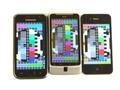 Schermvergelijking: Samsung Galaxy S, HTC Desire Z en Appl;e iPhone 4