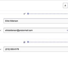 ProtonMail versleutelde contacten