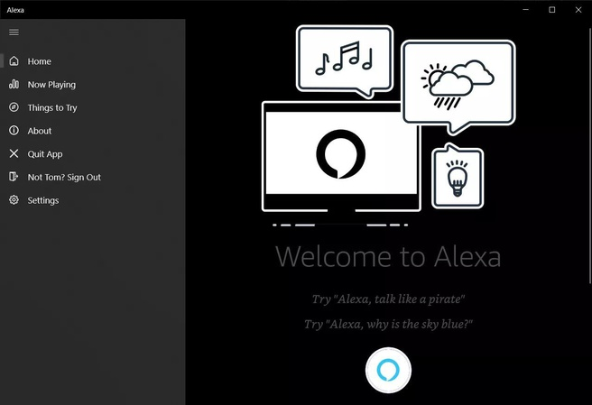 Amazon Alexa voor Windows 10