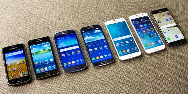 Zeven smartphon-generaties op een rij