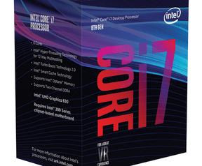 Verpakkingen van achtste generatie Intel Core i5 en i7
