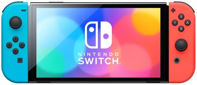 Nintendo Switch (modello OLED) blu, rosso
