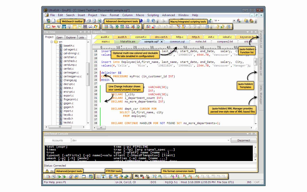 UltraEdit screenshot