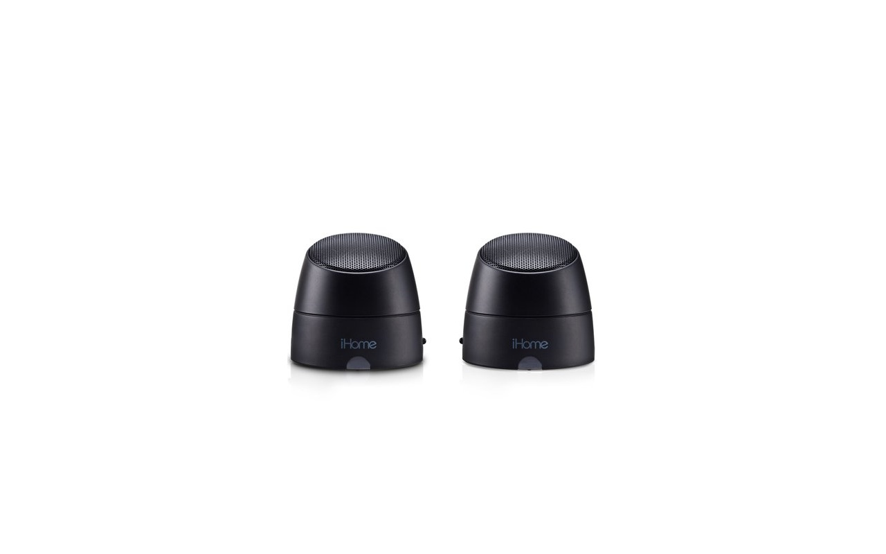 iHome  iHM79 - USB Mini luidsprekers 2.0 (Zwart)