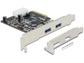 Goedkoopste Delock PCI Express Card (2x USB 3.1 Gen 2)