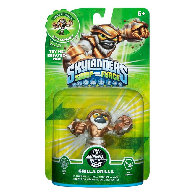 Skylanders Swap Force Grilla Drilla, Nintendo 3DS, PlayStation 3, PlayStation 4, Wii, Wii U, Xbox 360, Xbox One