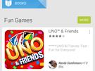 Screenshot Play Store met material design