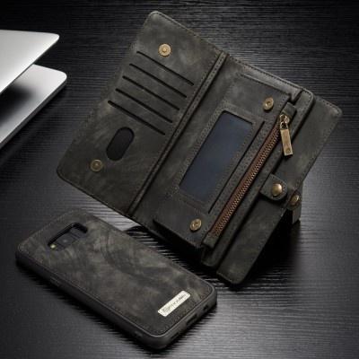 Caseme Samsung Galaxy S8 Luxe Lederen Portemonnee Hoesje - uitneembaar met backcover (grijs)