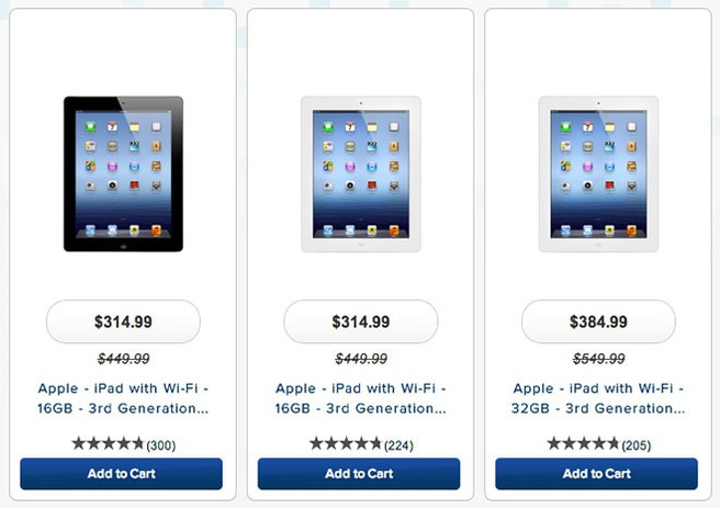 Prijsverlaging iPad 3