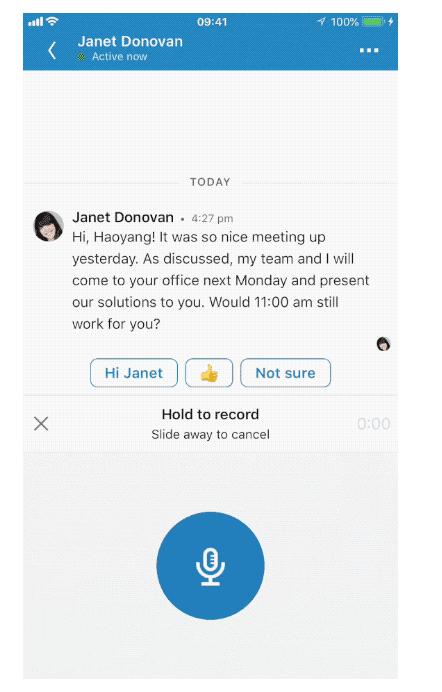 LinkedIn spraak