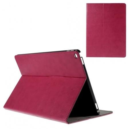 Kees Lederlook Portemonnee Hoes Apple iPad Pro - Roze