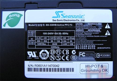 Seasonic SS-330 specificatie