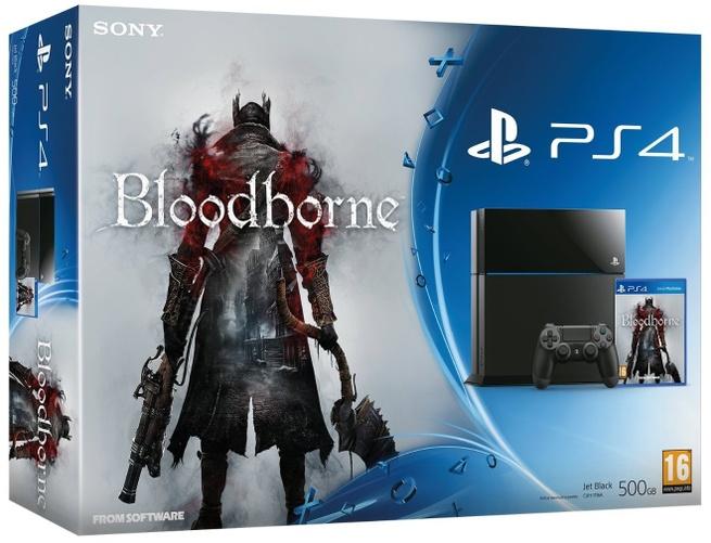 Sony PlayStation 4 + Bloodborne Zwart
