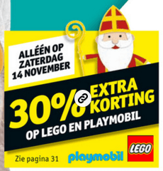 Kruidvat Lego 30% kortingsactie