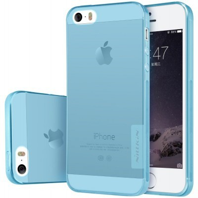 Nillkin Nature TPU Case Apple iPhone SE - flexibele hoes - Blue