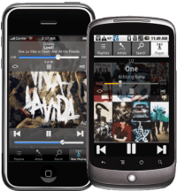 Audiogalaxy op iPhone en Android