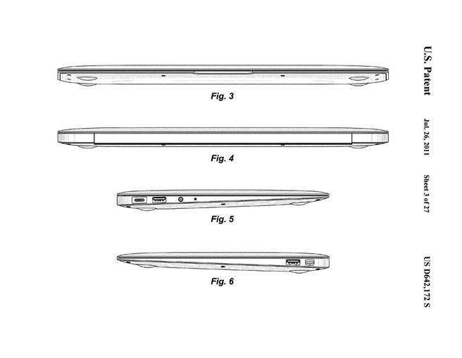 Apple MacBook Air 2010 patent