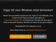 Ziggo Go Windows 10 stopt