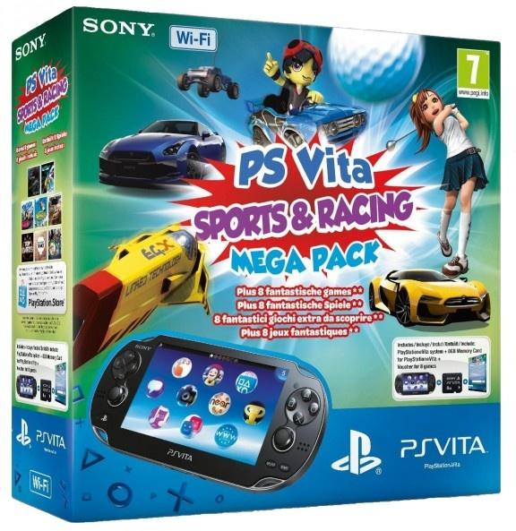 Sony PlayStation Vita 3G Sports & Racing Mega Pack Zwart