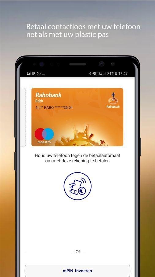 417e0d5d5e4 Rabobank test nieuwe versie van Wallet-app die werkt zonder nfc ...