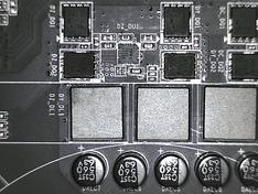 CPU VRM fases achterzijde 1