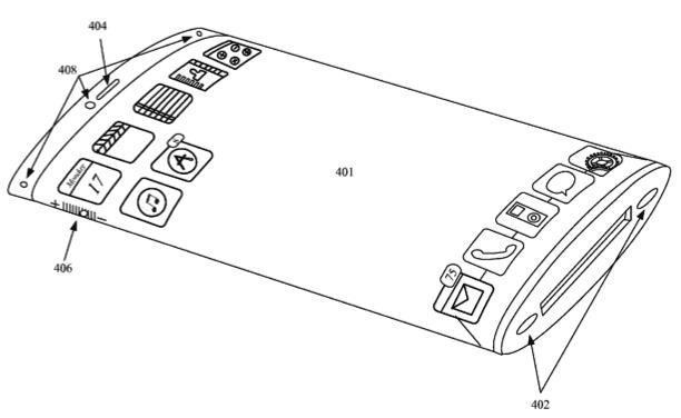 Apple flexibel display in glazen omhulsel