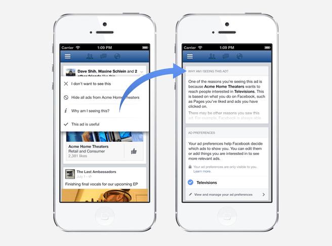 Facebook transparantie over privacy