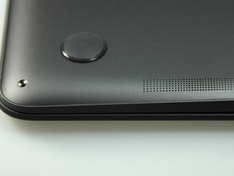 laptop onder speaker detail