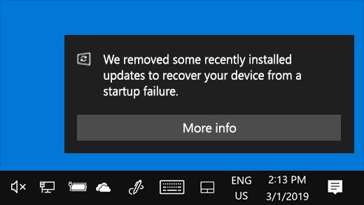 Microsoft update terugdraaien