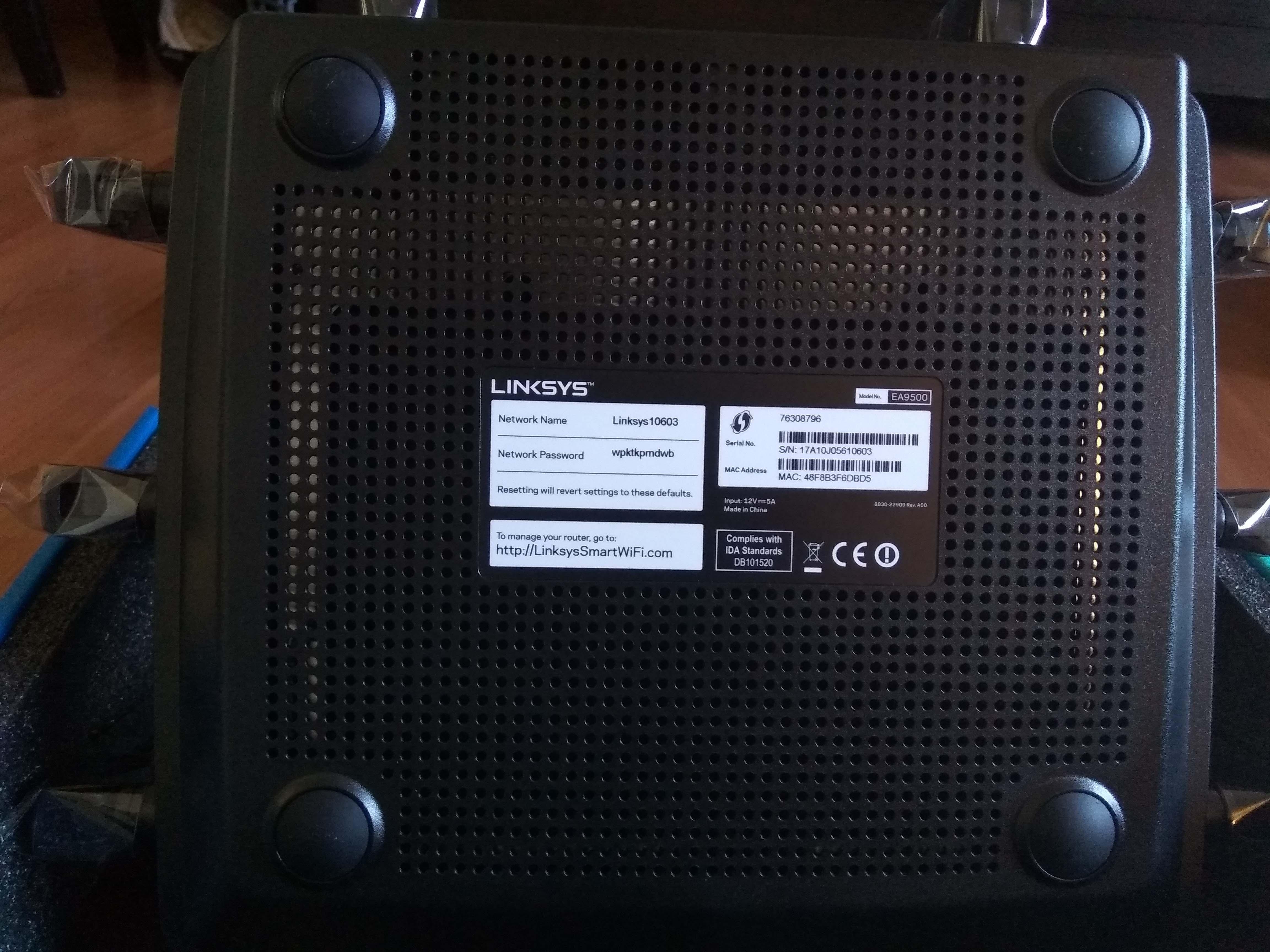 Linksys EA9500 Max-Stream AC5400 MU-MIMO Gigabit-router - darasta ...
