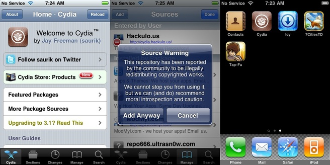 Downloaden van Tap Fu uit Cydia