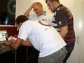MSI Overklok Challenge 2008 - Tweakers.net Crew aan het werk