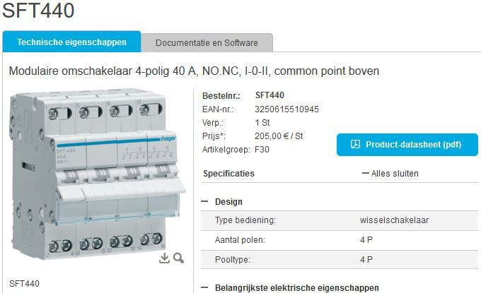 Hager SFT440