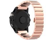 Goedkoopste qMust Metalen armband Chain Garmin Fenix 3 / Fenix 3 HR - Rose Goud