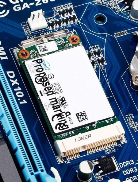 Gigabyte Z68-moederbord met msata