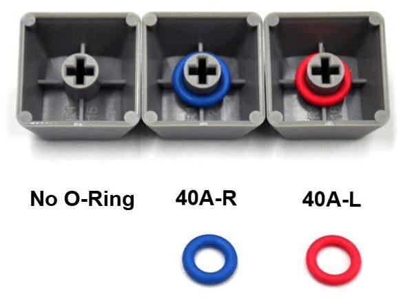 O-rings onder keycaps