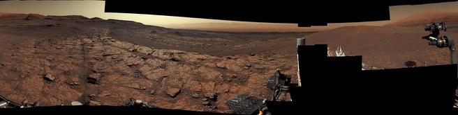 Curiosity panorama Mars november 2020
