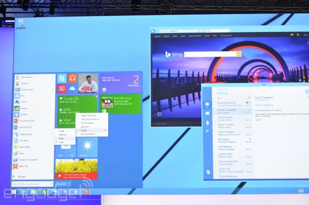 Windows 8.1 toekomstig startmenu