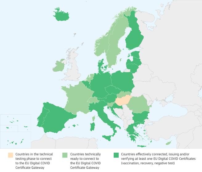 EUDCC-landen, juni 2021