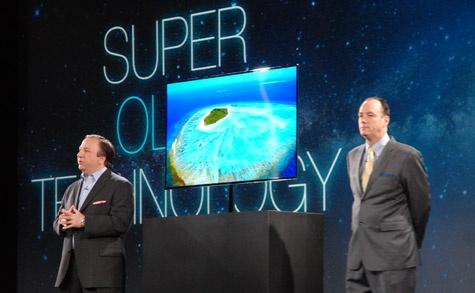 Samsung ES9000 oled-tv op CES 2012