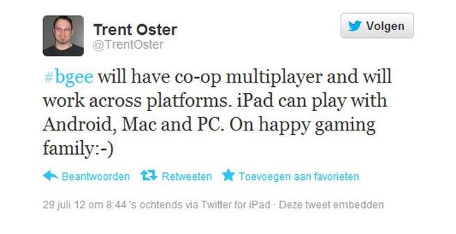 Tweet van Trent Oster